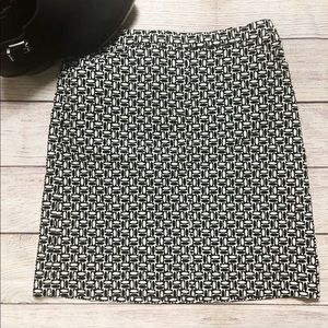 LOFT Black & White Retro 60s Mod Print Mini Skirt